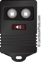 Remote Key Fob - Car key fob remote access to the machine....