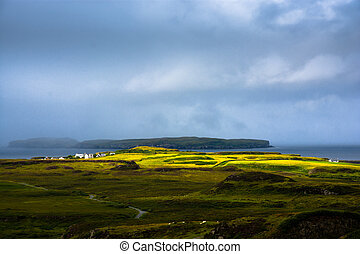 Remote scottish village in Scotland