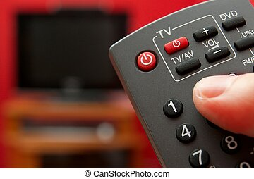 Using the remote controller of a tv