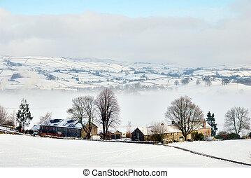 Remote Winter Farmhouse