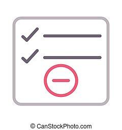 remove checklist