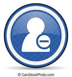 remove contact blue icon