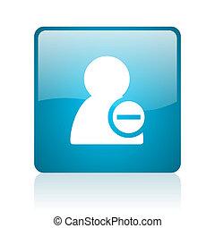 remove contact blue square web glossy icon