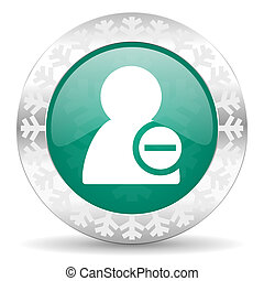 remove contact green icon, christmas button