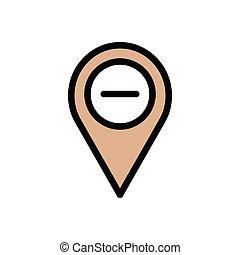 remove  flat color icon