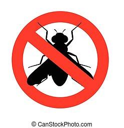 Remove Flies Symbol Vector Illustration