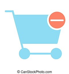 Remove Items from Shopping Cart Pixel Perfect Vector Silhouette Icon 48x48. Simple Minimal Pictogram