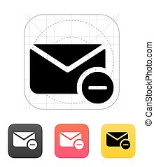 Remove mail icon. Vector illustration.