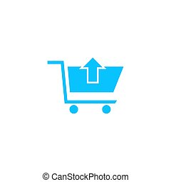 Remove Shopping Cart icon flat