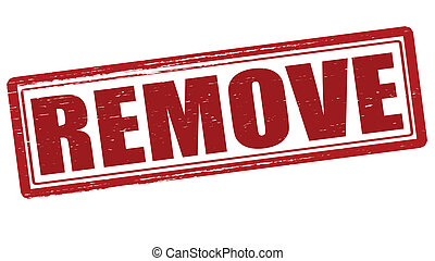 Remove - Stamp with remove inside, vector illustration