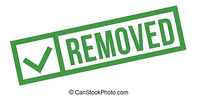 Removed typographic stamp