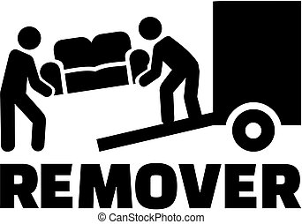 Remover icon with job title