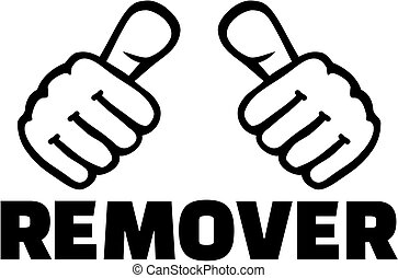 Remover thumbs. T-Shirt design.