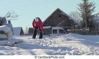 removes snow