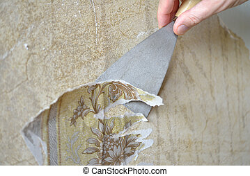 Removing old wallpapers - Removing the old wallpaper from...