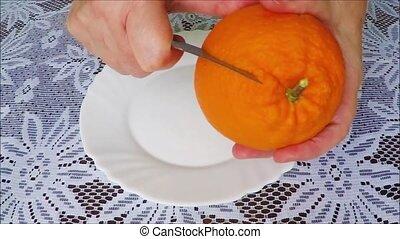 Removing orange peel