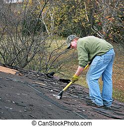 removing shingles