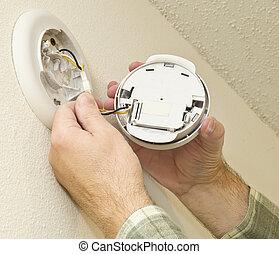 Removing Smoke Detector To Change T