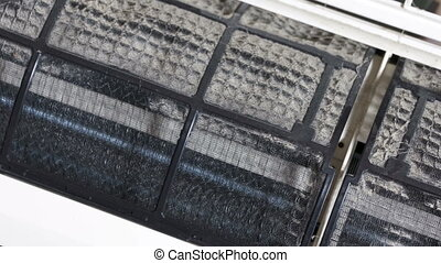 Removing split air conditioner dirty filters