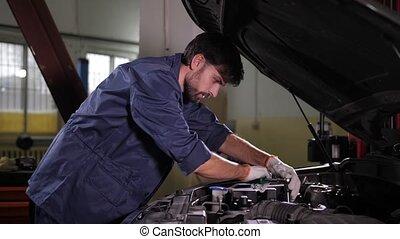 remplacer, spécialiste, filtre, réparation auto, huile, ...