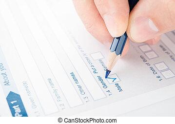 remplissage, checkbox, questionnaire
