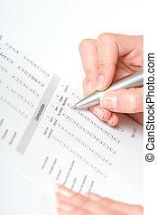 remplissage, les, formulaire