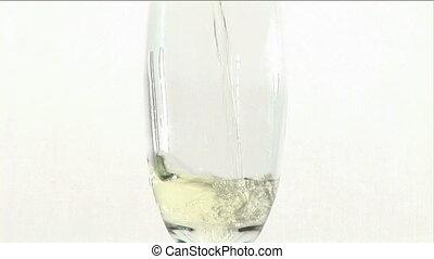 remplissage, verre, eau