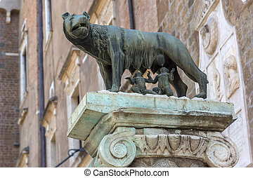 Remus on Capitoline hill in city of Rome, Italy
