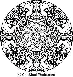 renæssance, seamless, mønster