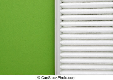 ren, filtrera, över, grön