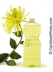 ren, grönsak, olja, med, blomma
