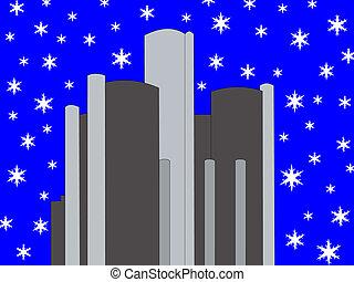 renacimiento, invierno, detroit, centro