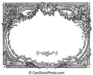 renacimiento, marco, ornamental