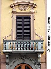 Renaissance balcony in Florence, Italy