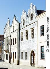 renaissance houses, Slavonice, Czech Republic