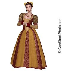 Renaissance Princess - Princess or noblewoman in a richly...