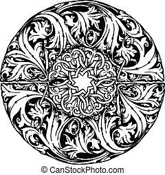 Renaissance seamless pattern. Vector illustration