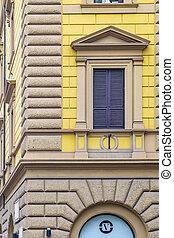 Renaissance Style Building Detail View