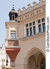 Renaissance Sukiennice (Cloth Hall, Drapers' Hall) in Kraków, Poland, is one of the city's most recognizable icons.