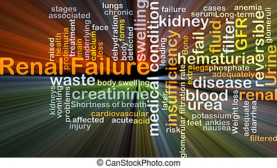 Renal failure background concept glowing - Background...