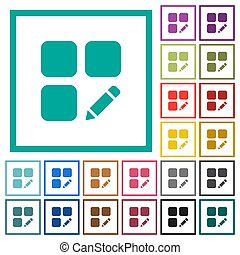 Rename component flat color icons with quadrant frames