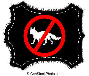 renard, fourrure, prohibition, signe