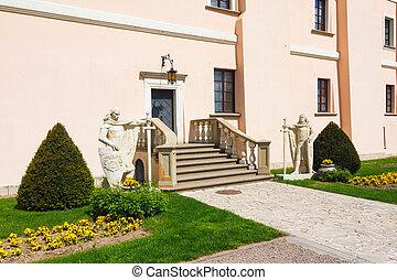 renascimento, castelo, em, niepolomice, polônia
