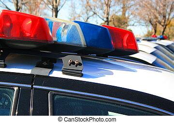 rendőrség autó, sziréna