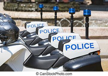 Rendőrség, motorbiciklik