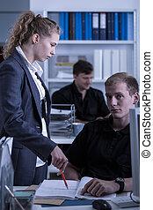 rendőrség, női, parancsnok