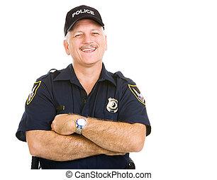 rendőrség tiszt, nevető