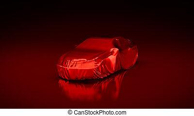rend, 自動車, presentation., 新しい, スポーツ, 3d