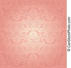 renda, cor-de-rosa, floral, fundo