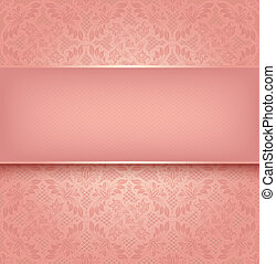 renda, cor-de-rosa
